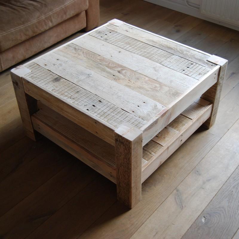 Salontafel ravelijn 80x80 van den adel meubels for Couchtisch 80 x 80