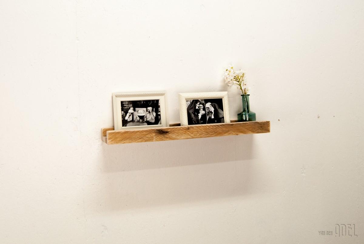 Wandplank Voor Fotolijstjes.Fotolijstplank 60x13x4 5 Van Den Adel Meubels Op Maat