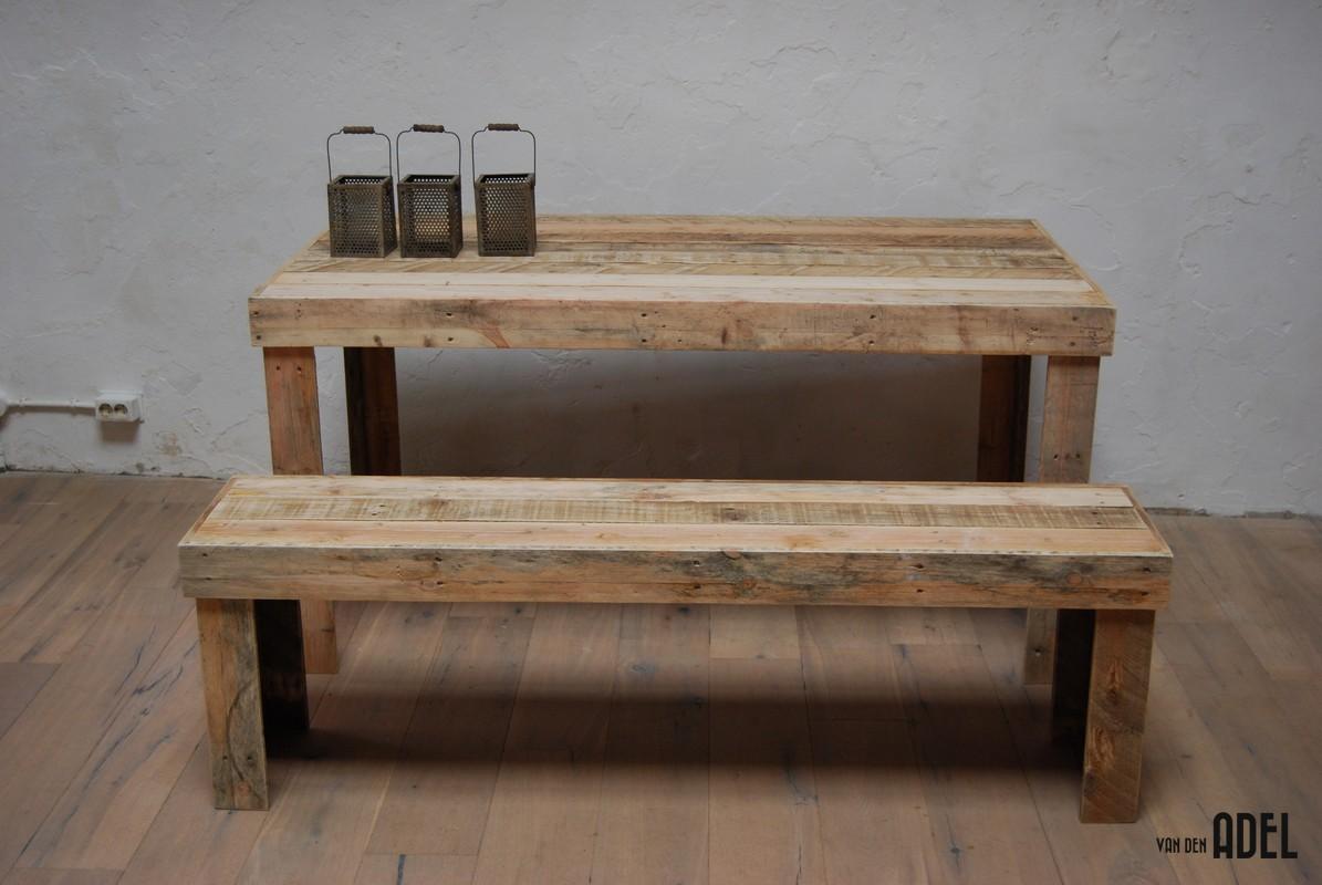 Eettafel bank hout loungeset 2017 - Houten tafel en stoel ...