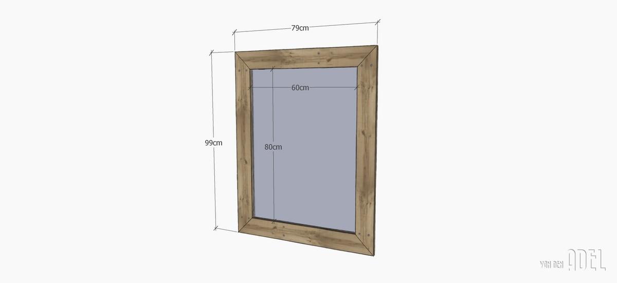 spiegel oud sloophout van den adel meubels op maat. Black Bedroom Furniture Sets. Home Design Ideas