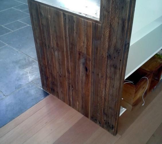 Zijpaneel keuken sloophout breed vernis1
