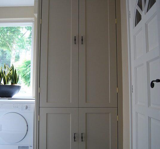 CV dichte ombouwkast om CV-ketel Incl. legplank en deurtjes koof MDF lakplaat 02