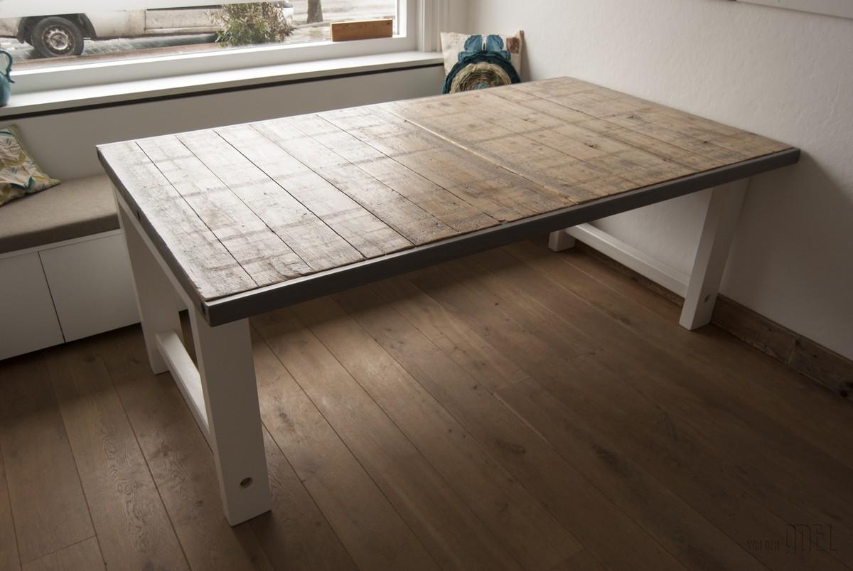 Tafel ravelijn 220 100 van den adel meubels op maat for Tafel van steenschotten