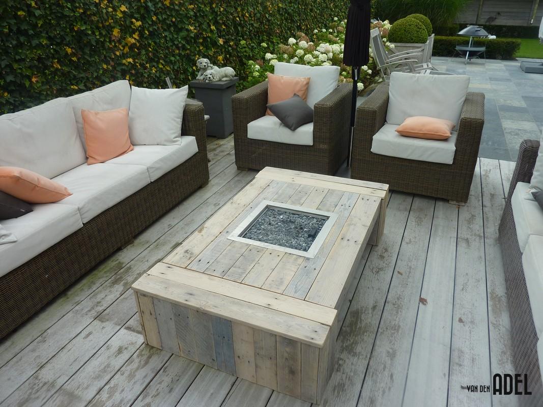 Lounge tafel met haard naar eigen idee prijs op aanvraag van den adel meubels op maat - Opslag idee lounge ...
