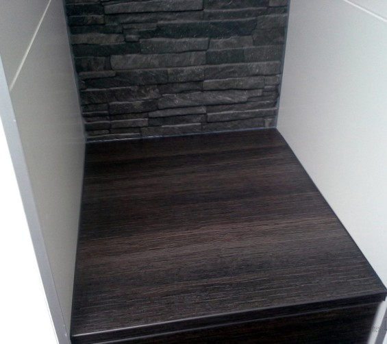 Niskastjes badkamer met softclose laden highland eik antraciet meubelplaat 03