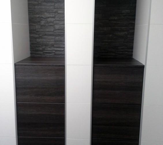Niskastjes badkamer met softclose laden highland eik antraciet meubelplaat 08
