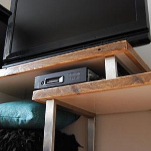Tag tv meubel hout en staal van den adel meubels op maat - Idee lounge outs heeft eet ...