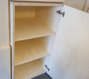 Wandkast populieren multiplex keuken en berging 650cm 08 detail