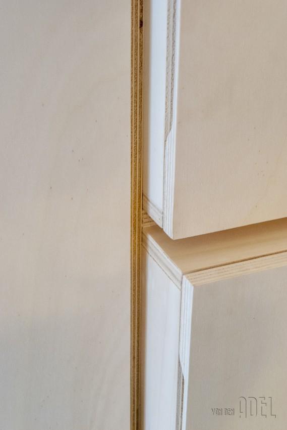 Keuken Wandkast Op Maat : multiplex keuken en berging – van den Adel Meubels op maat