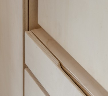 Wandkast populieren multiplex keuken en berging 650cm 11 detail