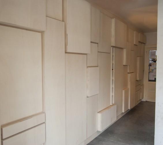 Wandkast populieren multiplex keuken en berging 650cm 15