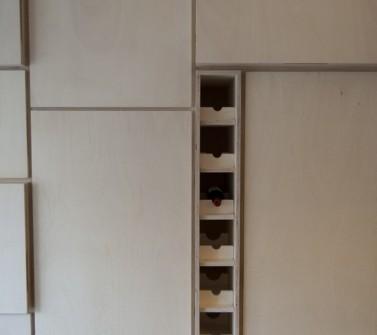 Wandkast populieren multiplex keuken en berging 650cm 18