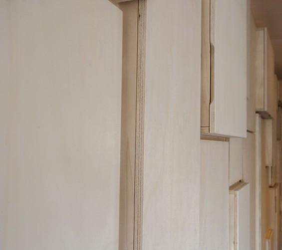 Wandkast populieren multiplex keuken en berging 650cm 21
