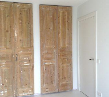 Garderobekasten voorzien van 6 oude geloogde deuren 02