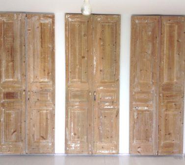 Garderobekasten voorzien van 6 oude geloogde deuren 04