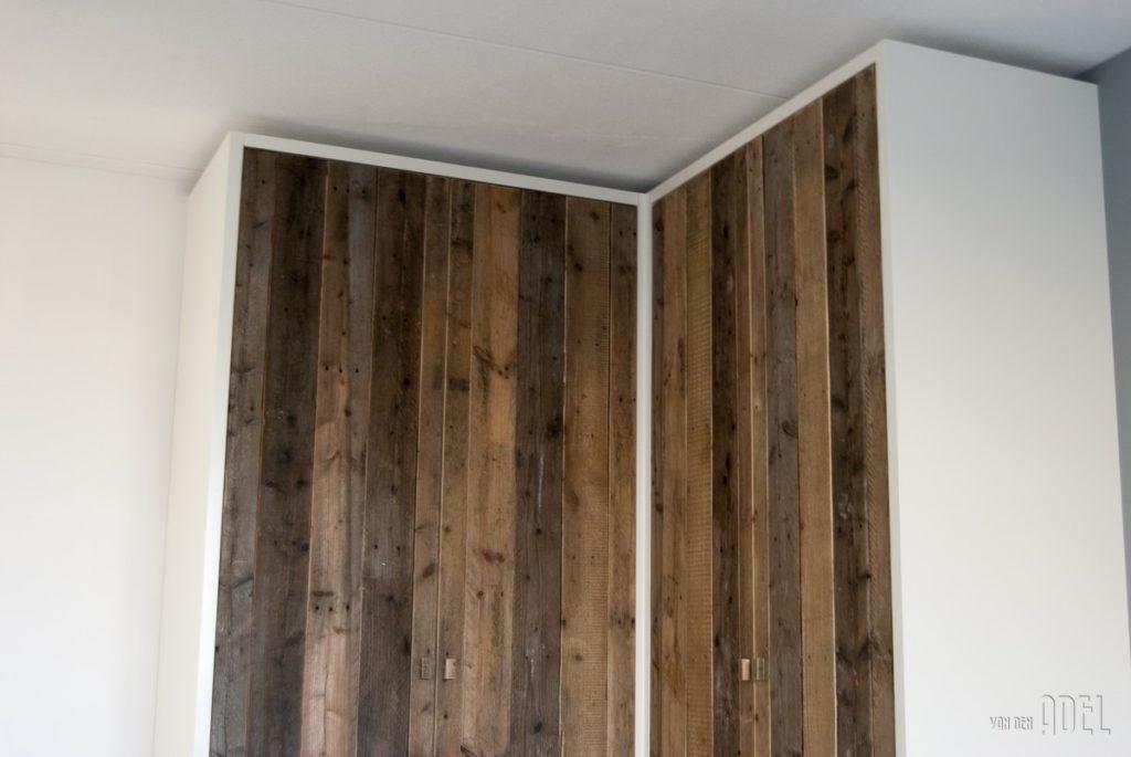 Hoekkast slaapkamer met sloophout deuren - van den Adel  Meubels op ...